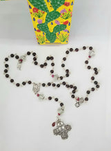 Load image into Gallery viewer, Radiate your Inner Madonna🙏📿: Keep-The-Faith Rosary (Red & Green & Silver)