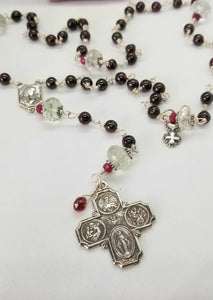 Radiate your Inner Madonna🙏📿: Keep-The-Faith Rosary (Red & Green & Silver)