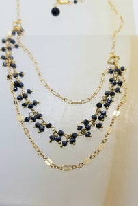 Black Spinel Gold Trio (Black Diamond Stand-In)