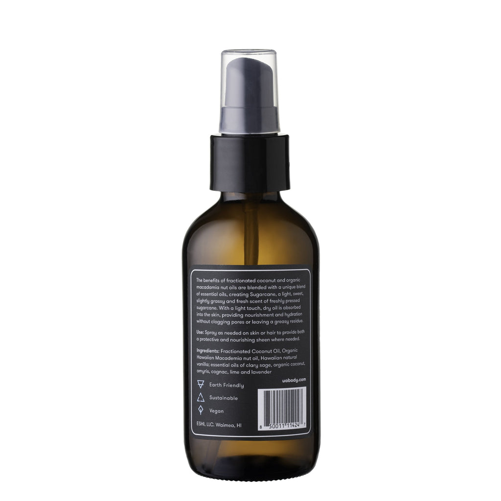 Sugarcane, vegan, body oil