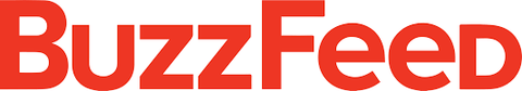 BuzzFeed logo, all caps with red block text