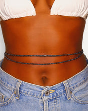 Load image into Gallery viewer, 2 women's black waist beads