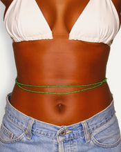Load image into Gallery viewer, green african waist beads for women double