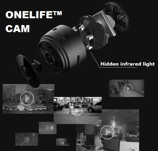 Onelife™ Cam - Wireless Camera (Infrared Night Vision + Smart Home Security + Baby Monitor + Motion Detection)