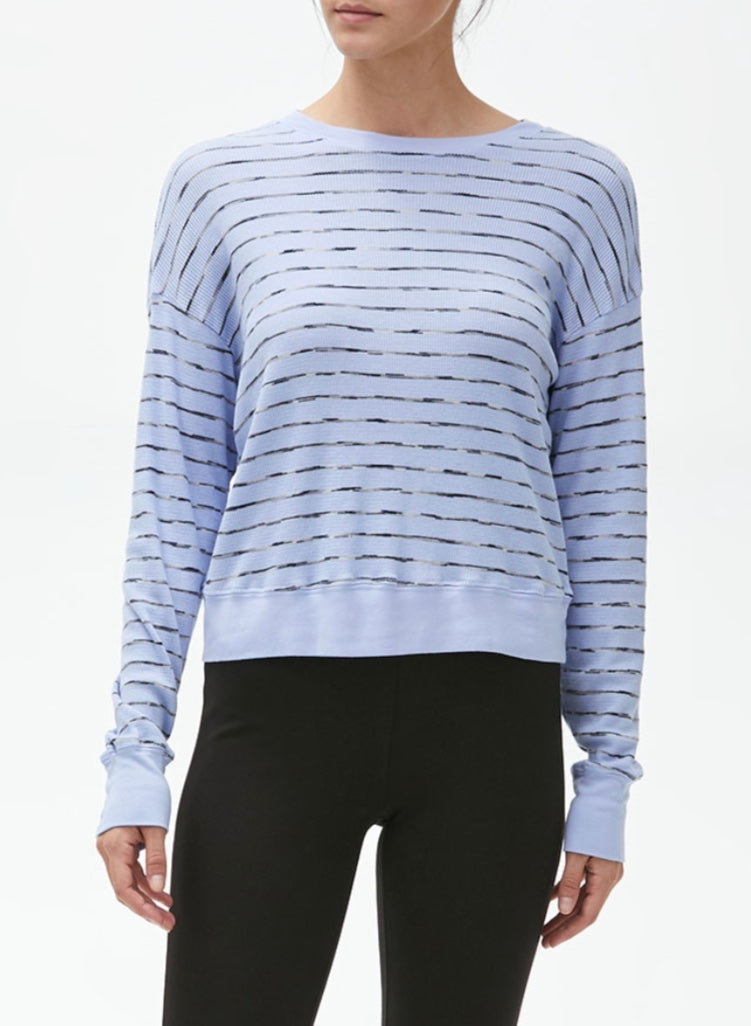 Striped Gigi Crew Pullover