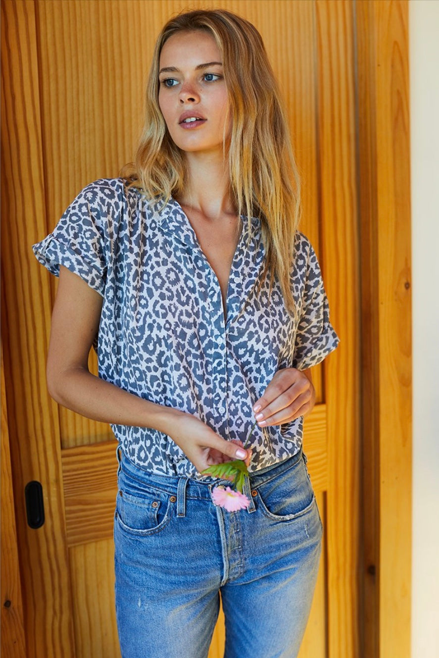 India Button Down Top