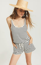 Load image into Gallery viewer, Azure Stripe Romper