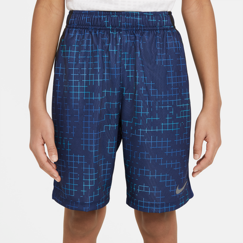 NIKE DRI-FIT BIG KIDS (BOYS) PRINTED TRAINING SHORTS