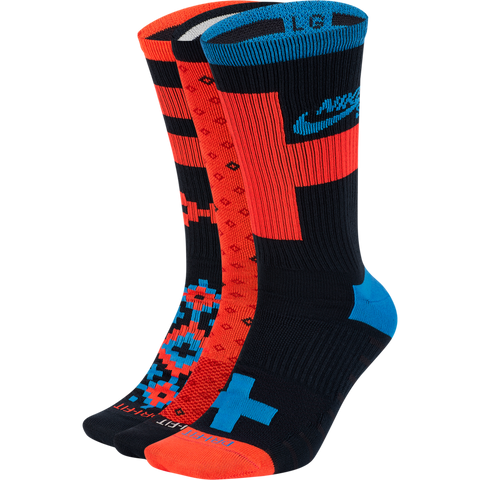 NIKE SB EVERYDAY MAX LIGHTWEIGHT SKATE CREW SOCKS (3 PAIRS)
