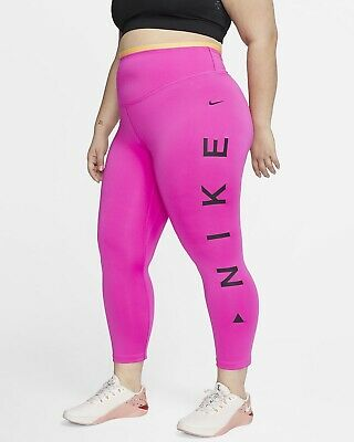 NIKE ONE ICON CLASH WOMENS GRAPHIC TIGHTS (PLUS SIZE)
