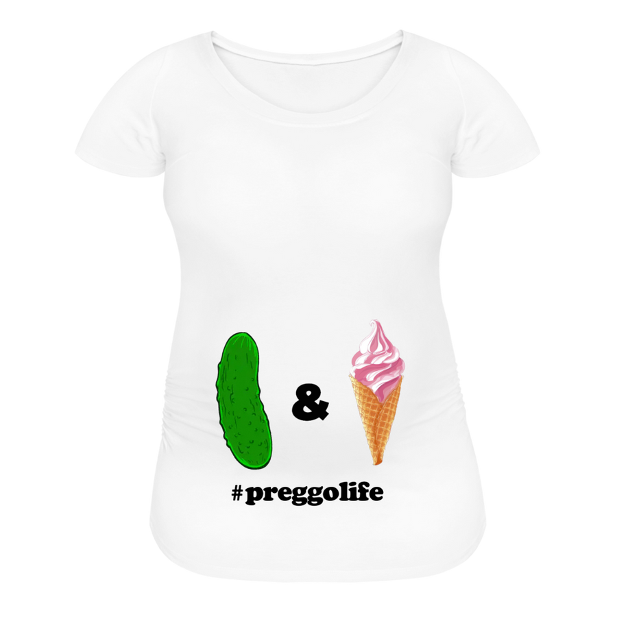 Pickles &🍦 Maternity | White/Grey - white