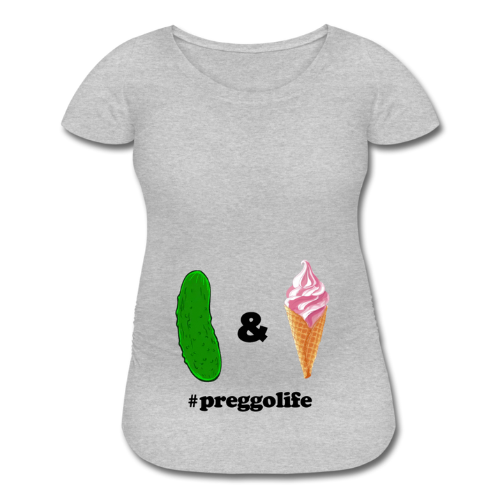 Pickles &🍦 Maternity | White/Grey - heather gray
