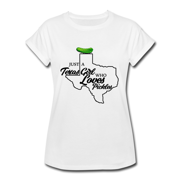 Texas Pickle Girl 👩‍🌾 White/Grey - white