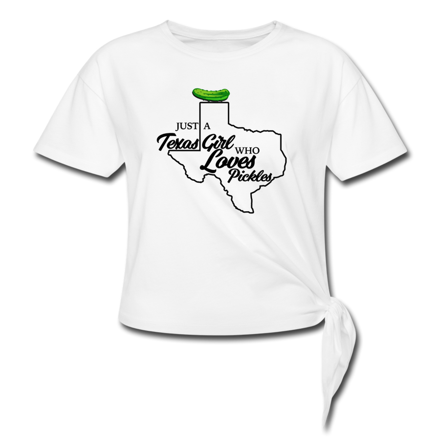 Texas Pickle Girl 👩‍🌾 White - white
