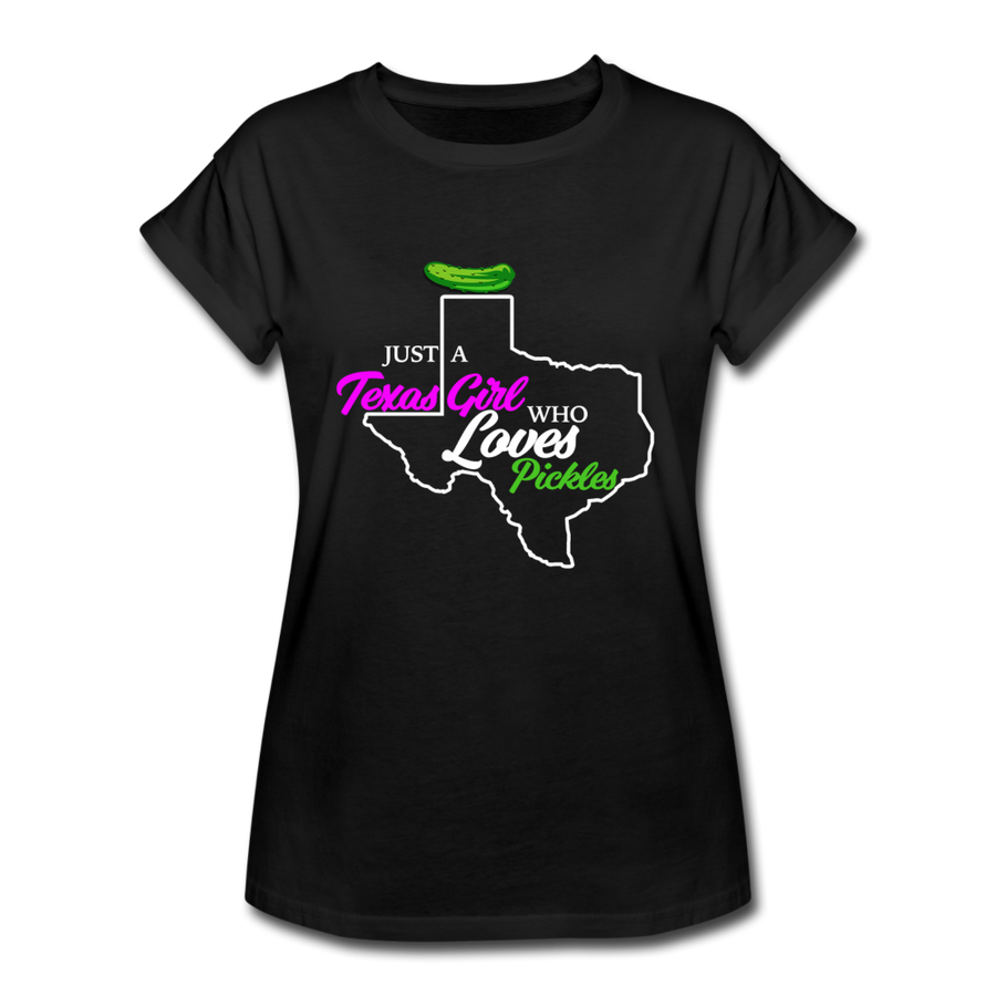 Texas Pickle Girl 👩‍🌾 Black/Maroon - black