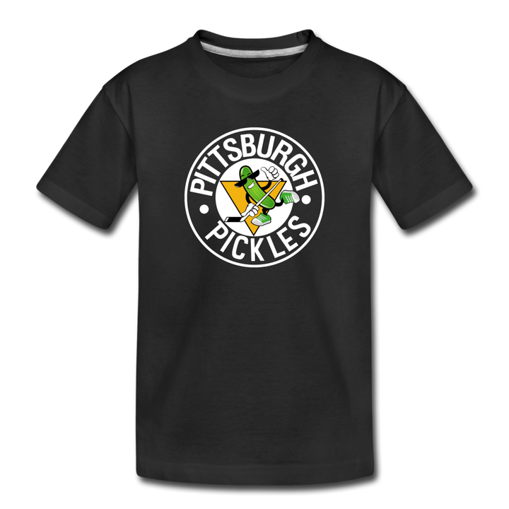 Kids' Premium T-Shirt 🏒 Pittsburgh Pickles - black