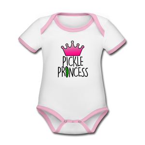 Pickle🥒Princess Baby Bodysuit - white/pink