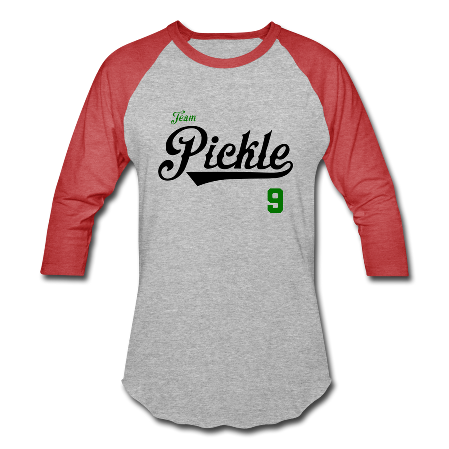 Team Pickle ⚾️ Multiple Colors - heather gray/red