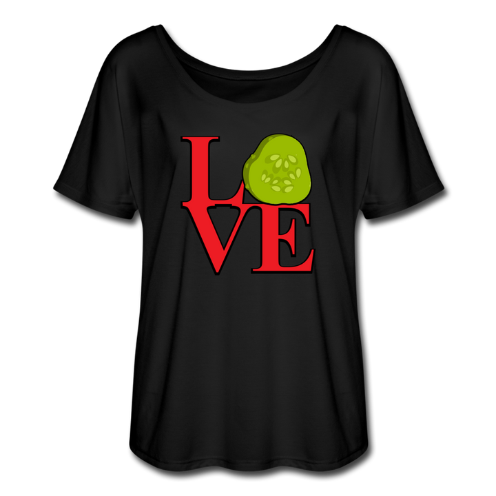 Women's Flowy LOVE T-Shirt - black