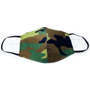 Camouflage Face Masks with Filter Pocket | 100% Organic Linen and 100% Cotton