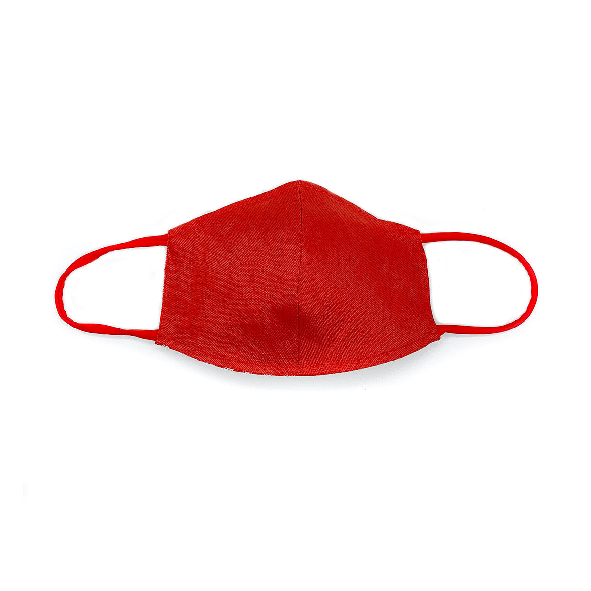 Red & Gray Reversible - 100% Organic Linen Face Mask - Lysa's Hands | Cloth Face Masks