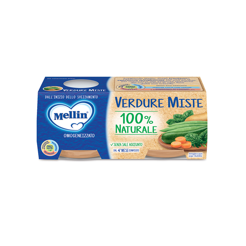 Homogenized Mellin Mixed Vegetables 2 X 80 G