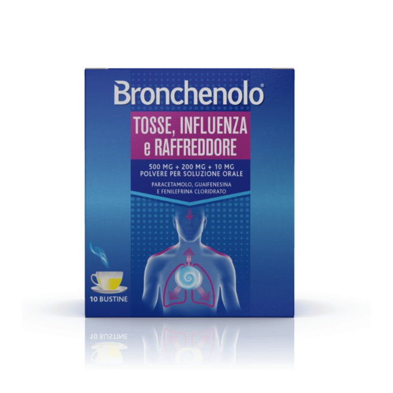 BRONCHENOLO® Flu and Cold Cough 10 Sachets