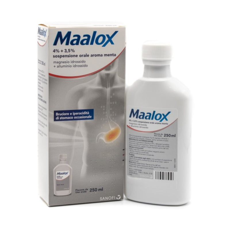 Maalox * Oral Sosp 250 Ml 4% + 3,5% Mint flavor