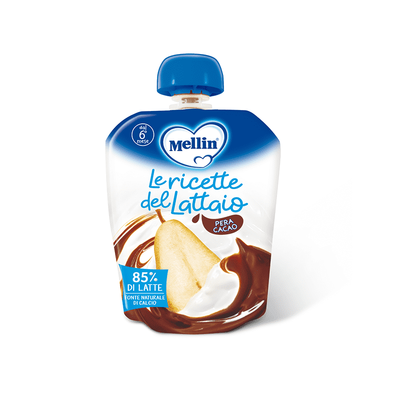 Mellin Pouch Latte Pera Cacao 85 G