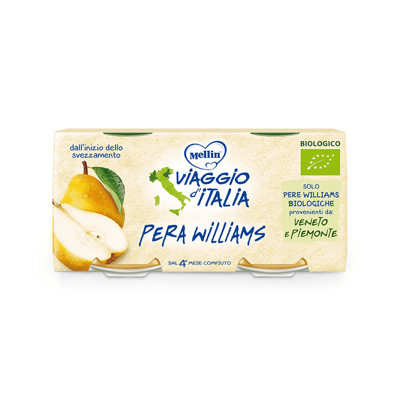 Mellin Travel Italy Omog Pear 2X100G