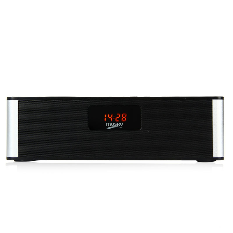 MUSKY DY21L HIFI Wireless  V4.0 Bluetooth Stereo Speaker with LED Display Multimedia Time Alarm FM Mode