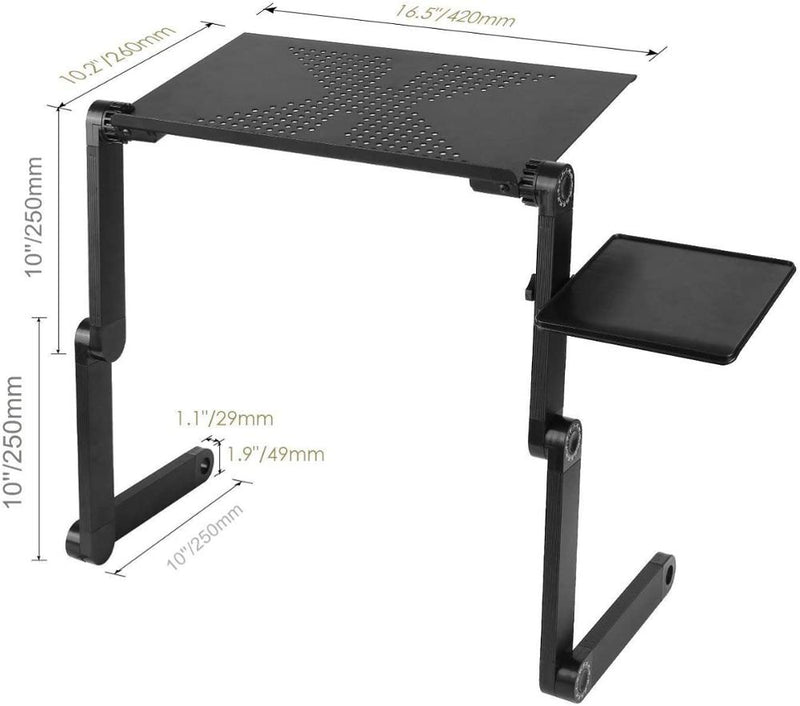 Adjustable Foldable Laptop Desk with integrated USB cooling fan-lowest price on any online platform! Free shipping!