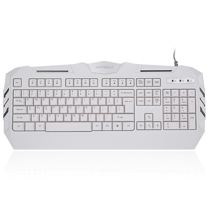 Warwolf K3 Professional White Axis USB Wired Gaming Keyboard with Backlight
