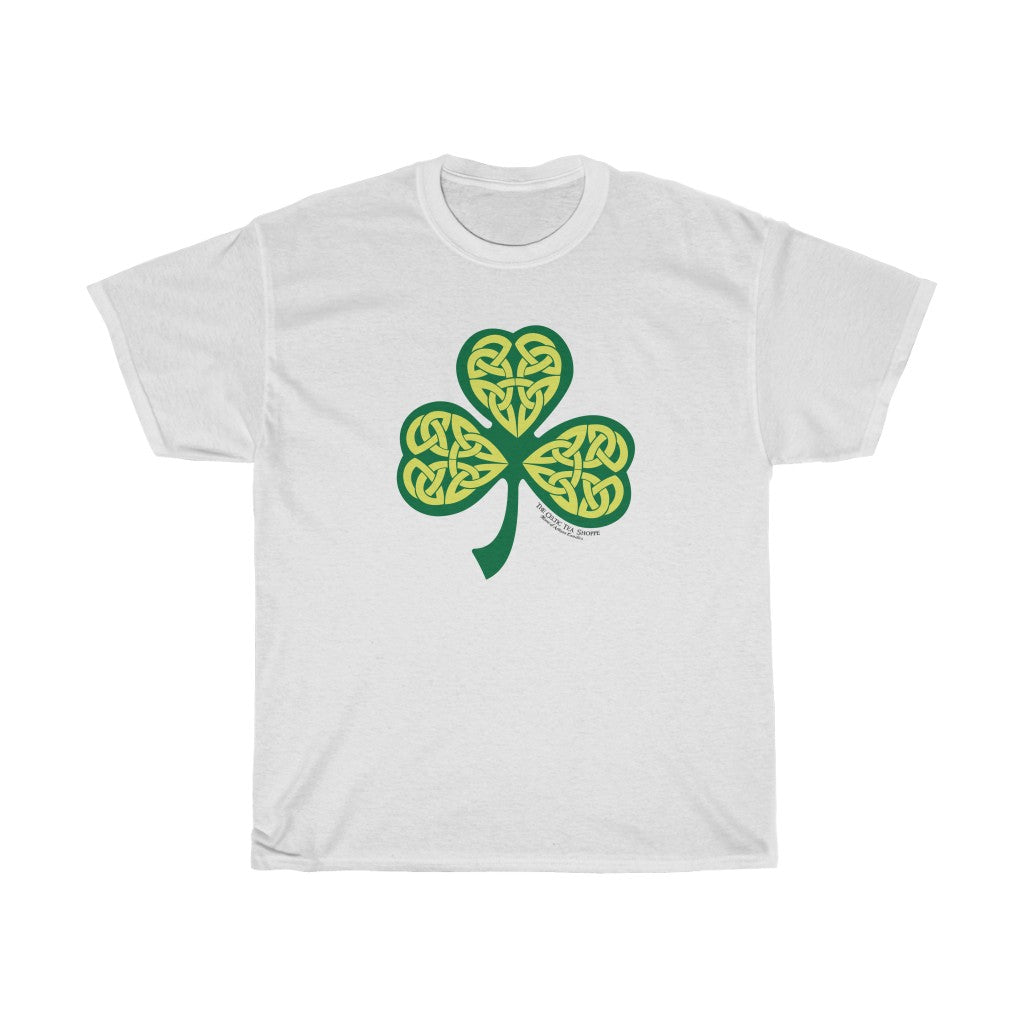 Celtic Tea Shoppe Shamrock t shirt unisex