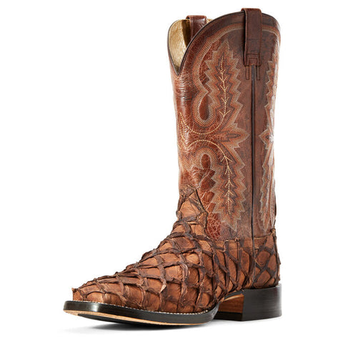 Ariat Men's Deep Water Café Big Bass/Adobe Tile Western Boot