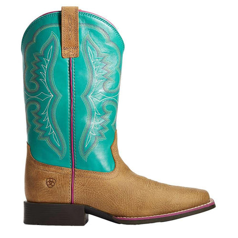 Ariat Girl's Tan/Turquoise Boot