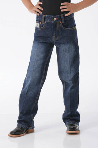 Cinch Boys White Label Dark Stone Wash Jeans