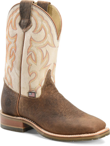 "DoubleH Men's Dallas 11"" Domestic Low Profile Square Toe I.C.E.™ Roper"