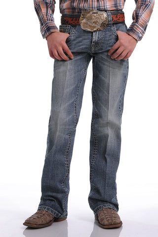 CINCH LITTLE BOYS SLIM FIT JEAN JANUARY - MEDIUM STONEWASH