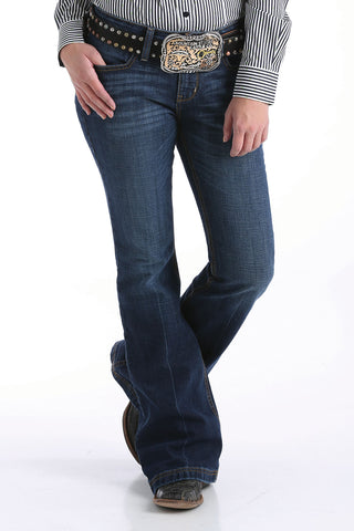 CINCH WOMEN'S SLIM TROUSER LYNDEN JEAN - DARK STONEWASH