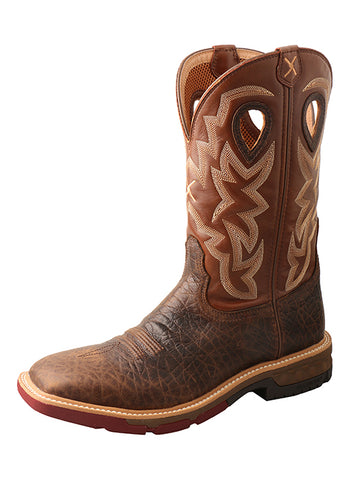 Twisted X Men's 12″ Western Work Boot with CellStretch® – WP