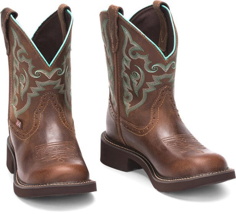 "Justin Women's 8"" Gemma Brown Gypsy Boot"