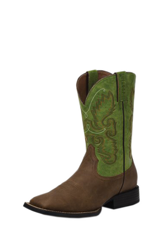 Justin Hinton Green Farm and Ranch Boots