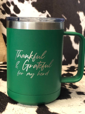 HCO Exclusive Thankful and Grateful Coffee mug