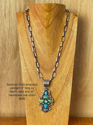 Sonoran Gold Pendant and Necklace Set