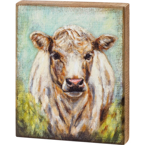 Box Sign - Shaggy Cow
