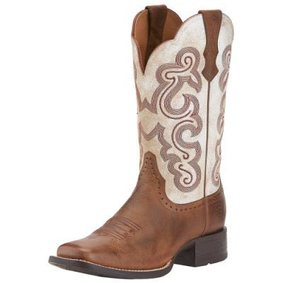 Ariat Women's QuickDraw Sandstorm/Distressed White Boot
