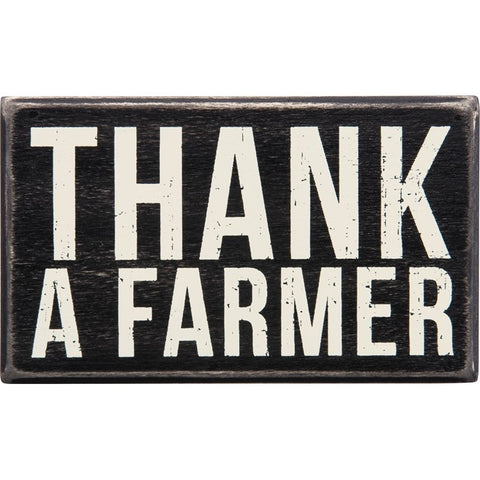 Primitives's By Kathy Thank A Farmer Box Sign