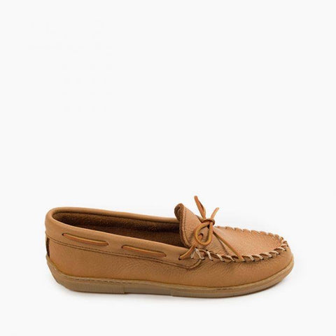 Minnetonka Men's Moosehide Classic Natural