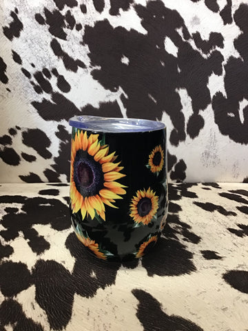 Sunflower Wine Glass Tumbler